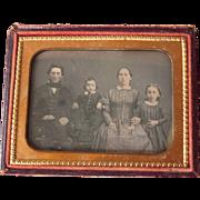 c1850s Quarter Plate Daguerreotype of Identified Family