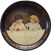 Large 1915 Hoeffler Ice Cream Advertising Tray