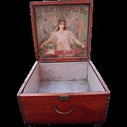 Large Victorian Era Advertising Display Box Fairbanks Fairy Soap