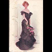 Rare Boileau Postcard of Woman #231 Summer