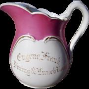 1850s Antique Presentation Porcelain Pitcher