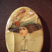 1910 Coca Cola Advertising Pocket Mirror by Hamilton King