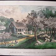 Currier & Ives American Homestead Spring Print #1