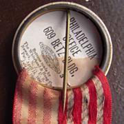 c1896 Telephone Company Pinback Badge