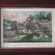 Currier & Ives American Homestead Spring Print #2