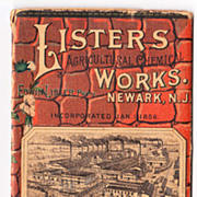 1888 Advertising Booklet Agricultural Chemical Works Newark NJ