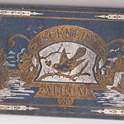 1883 Autograph Album w/ Color Lithographs of US Scenery