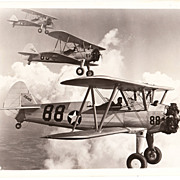 Photo of 3 WWII Biplanes in Flight