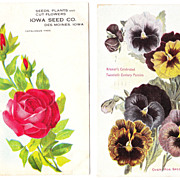 Pair Seed Advertising Postcards from Iowa, c1910