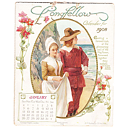 1908 Color Lithographed Calendar