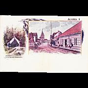 Lot of 9 1897 Alaska Patriographic Postcards
