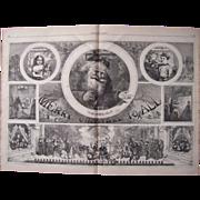 1865 Thomas Nast Santa Claus Wood Cut Engraving