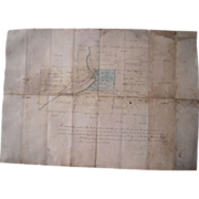 Antique 1861 Hand Drawn Survey Map of Pine Creek, PA