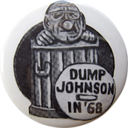 SOLD 1968 Anti LBJ Re-Election Camgain Button