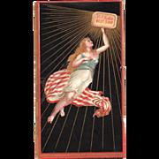 Patriotic Victorian Trade Card B.T. Babbitts Soap