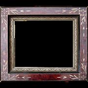 "c1890s Picture Frame w/Eastlake Design 8"" x 10"""
