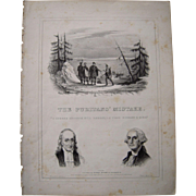 "1844 Sheet Music ""The Puritan's Mistake"""