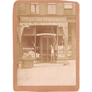 c1880s Photo of Storefront w/Cigars Utica, NY