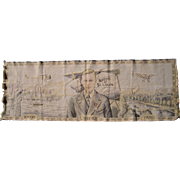 SOLD 1927 Tapestry Charles Lindbergh Flight NYC to Paris