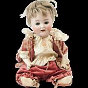 """1890s German Alt Beck & Gottschalk Bisque Flirty Eyes Baby Doll 13"""""""