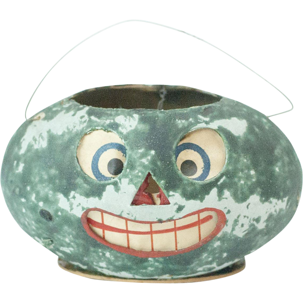 rare antique german papier mach watermelon halloween lantern with from funcity on ruby lane. Black Bedroom Furniture Sets. Home Design Ideas