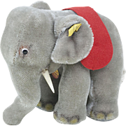 """1970s Steiff Baby Circus Elephant with Glass Googly Eyes 14"""""""
