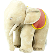 """1950s Steiff White Baby Circus Elephant with Glass Googly Eyes 14"""""""