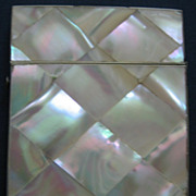 Iridescent Victorian Mother of Pearl Calling Card Case