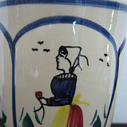 SOLD Quimper Coffee Mug HB Henriot Breton Woman