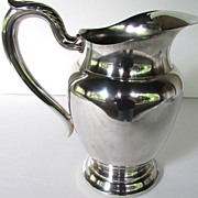 Vintage Silver Plate W. M Rogers Water Pitcher, Oneida