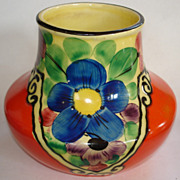 REDUCED Colorful Handpainted Czech Vase