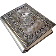 Vintage JUDAICA Hebrew PRAYER BOOK  Hand Chased Silver Cover - Jerusalem