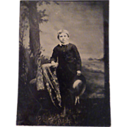 Vintage Tintype of Young Boy