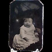 Vintage Tintype Child with Creepy Hand