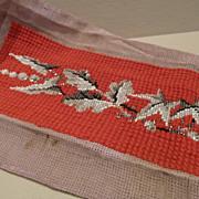 Victorian Beaded Needlepoint Beadwork Panel