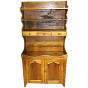 19th Century Virginia Pine Dry Sink Cupboard Hutch