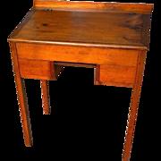 Early Pine Schoolmasters Desk with Writing Slate