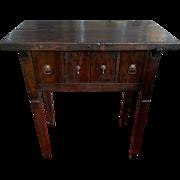 17th Century Spanish Walnut Campaign or Tavern Table