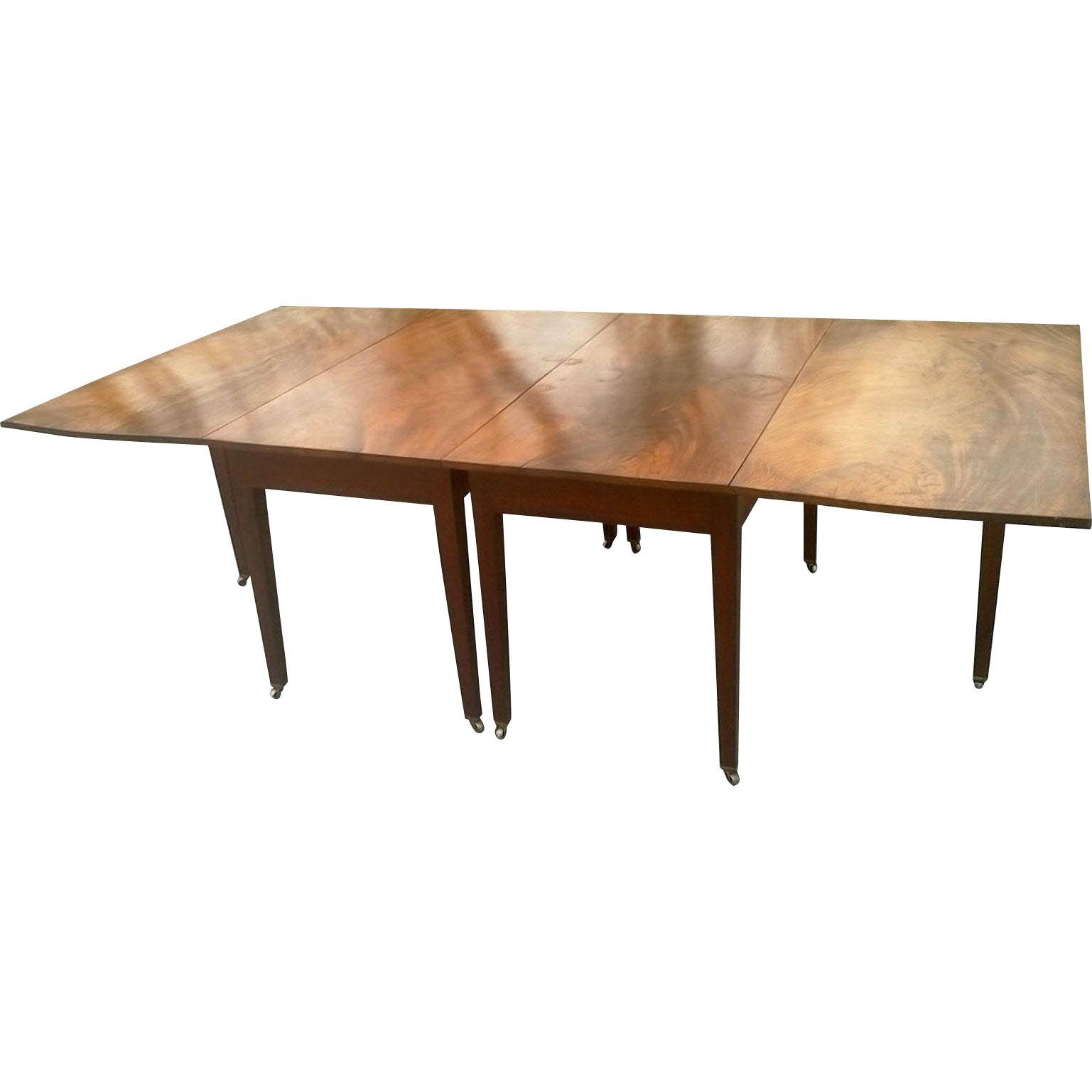 Federal Mahogany Hepplewhite Banquet Dining Table from  : FUR891L from www.rubylane.com size 1537 x 1537 png 431kB