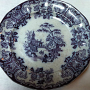 19th Century Mulberry Purple Transferware Plate
