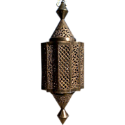 Solid Brass Moroccan Style Hanging Pendant Lantern or Light
