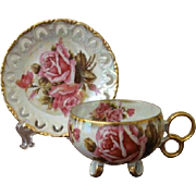 Royal Sealy Japan Three Footed Cup and Saucer