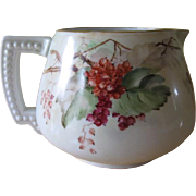 Jean Pouyat Limoges France Hand Painted Cider Pitcher