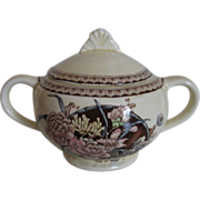 Vintage Clarice Cliff Ophelia Pattern Covered Sugar Bowl