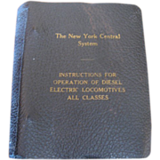 New York Central Railroad Company Instructions for Operation of Diesel Electric Locomotives