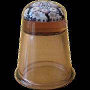 Vintage Caithness Scotland Amethyst Glass Millefiori Thimble
