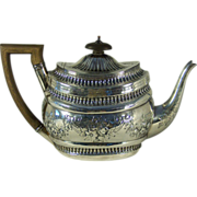 George III sterling silver teapot, Alice & George Burrows, London, 1802