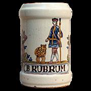 An 18th century Delft faience apothecary jar circa 1770