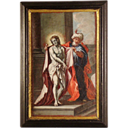 "An 18th century Austrian Baroque painting of ""Ecce Homo"", associated with the studio of .."