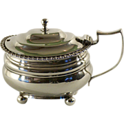 George III sterling silver and silver gilt mustard pot, London,1817